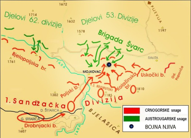 Raspored snaga u Mojkovačkoj bici