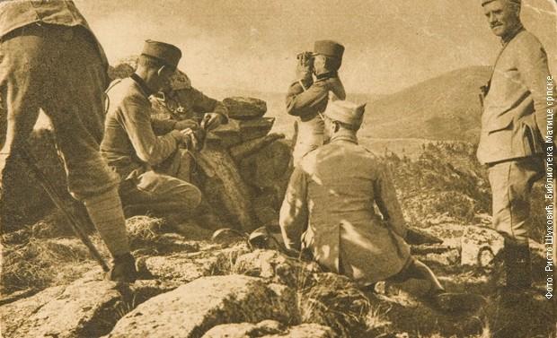 Команда треће дивизије на Кајмакчалану на коти 2525