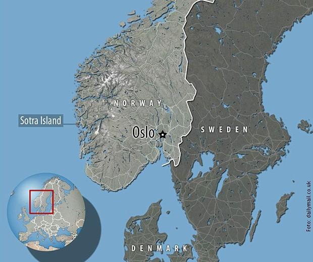 Položaj ostrva Sotra na kojem je nađen ovaj kit