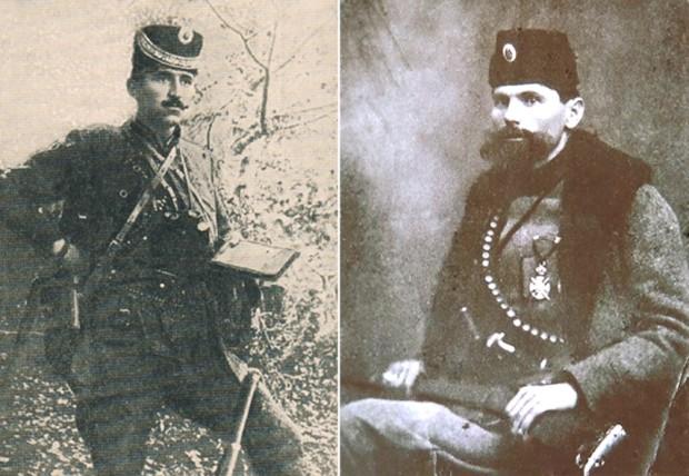 Вође устанка Војиновић и Миловановић