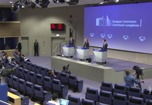 Федерика Могерини на конференцији за новинаре уочи састанка