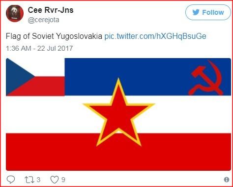 """Неки су на """"Твитеру"""" одлучили да дизајнирају заставу Совјетске Југословакије"""