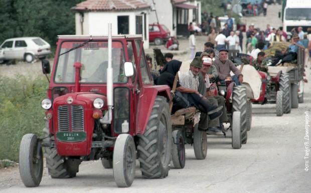 Колона избеглих из Хрватске