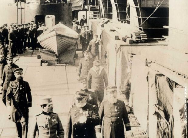 Принц Александар на Француском адмиралском броду 1916.