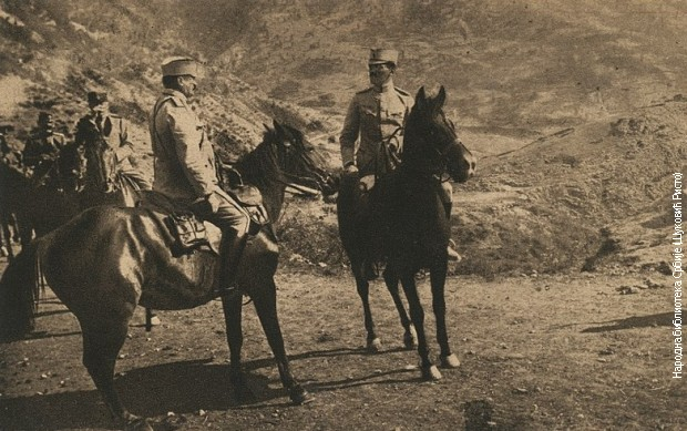 Врховни командант Александар на положају на Чегаљској планини