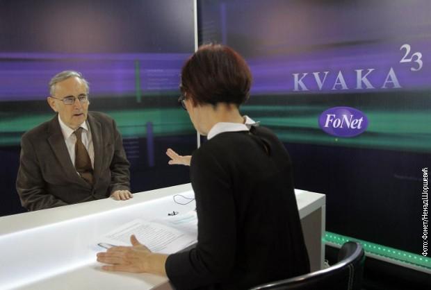 Тибор Варади са новинарком Даницом Вученић