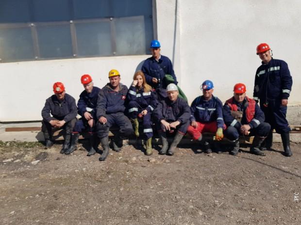 Novinarksa RTS-a sa rudarima