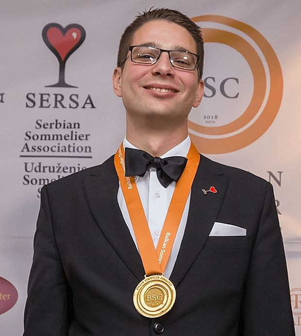 Vuk Vuletić, najbolji somelijer na Balkanu