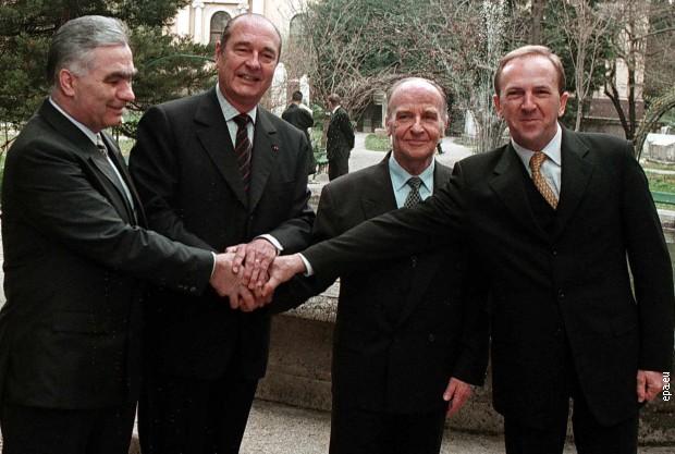 Жак Ширак у Босни након рата