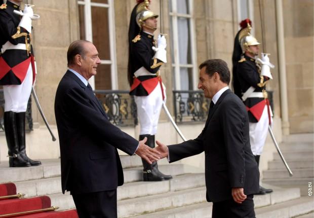 Жак Ширак предаје дужност председника Николи Саркозију