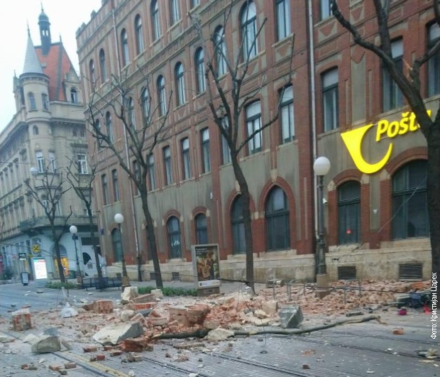 Dva snažana potresa u Zagrebu, popucale fasade