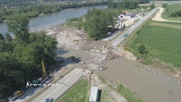 Porušen most preko reke Ljuboviđe u opštini Ljubovija