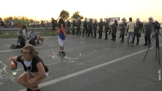 Полиција блокирала пут Нови Сад – Зрењанин