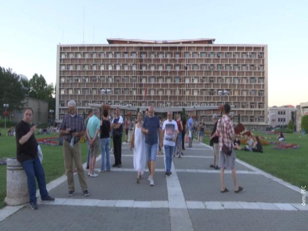 Миран протест у Крагујевцу