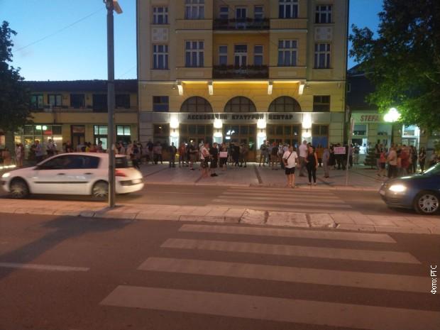 Протест на Великој чаршији у Лесковцу
