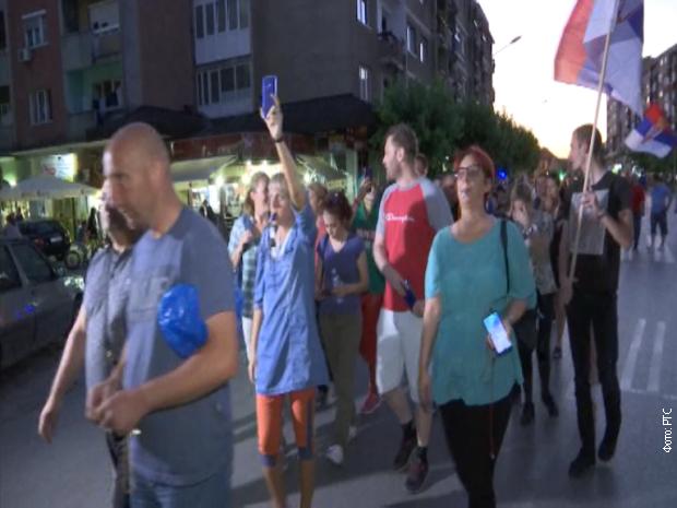 Протестна шетња у Јагодини