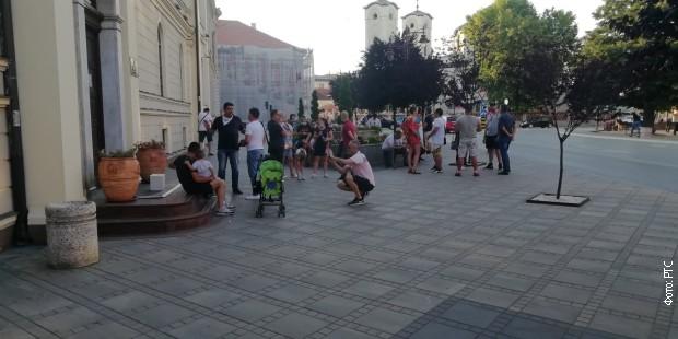 Окупљање грађана у Чачку