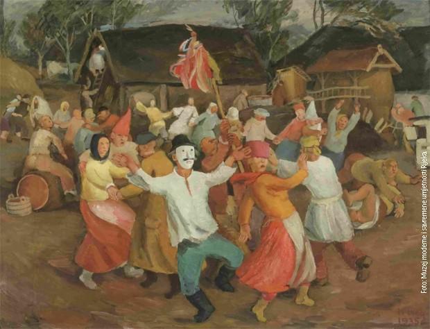 "Krsto Hegedušić, ""Poklade"" (1935)"