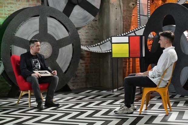 Марко Новаковић и Давид Јовановић у студију Раних Кадрова