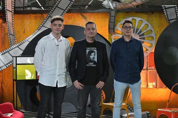Давид Јовановић и Марко Новаковић са дизајнером звука Антониом Андрићем