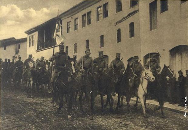 Улазак српских војника у Скопље