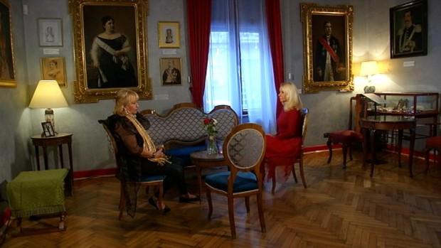 Maja i Tamara na snimanju emisije u Domu Jevrema Grujića u Beogradu