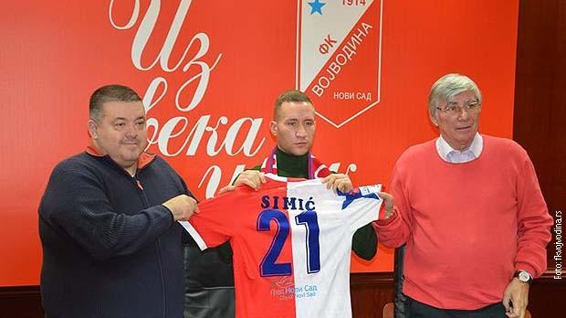 Veljko Simić u timu Vojvodine