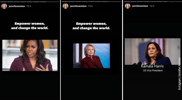 Bivša prva dama SAD Mišel Obama, bivša državna sekretarka SAD Hilari Klinton i potpredsednica SAD Kamala Haris