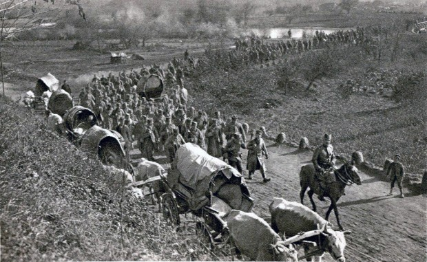 Повлачење српске војске 1915, фотографија С. Чернова