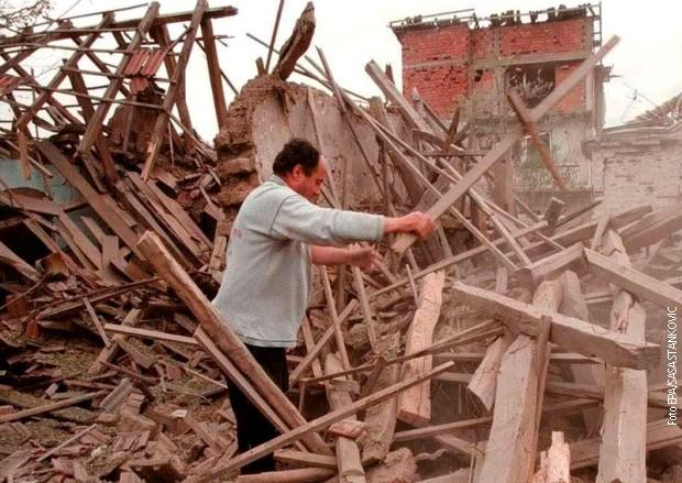 Uništena kuća tokom bombardovanja Niša