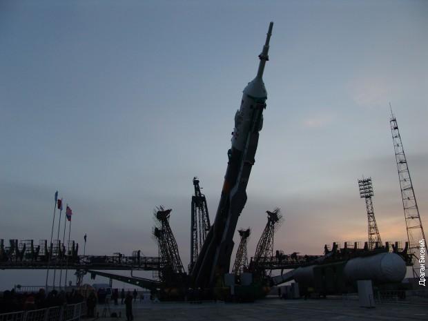 Čekajući lansiranje u Bajkonuru