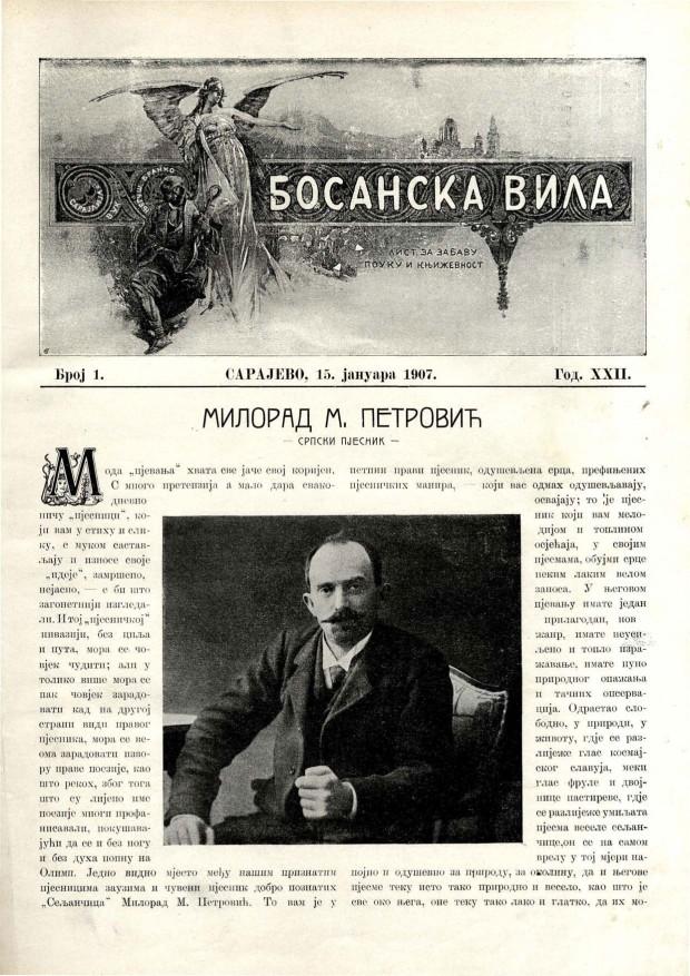 Босанска вила, јануар 1907.
