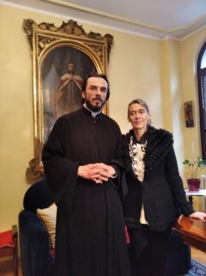 Sveštenik prezviter dr Oliver Subotić i Mirjana Raičević Tasić