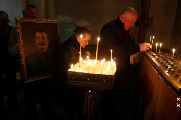 Помен Стаљину у цркви у Горију на годишњицу смрти, 5. марта 2020.