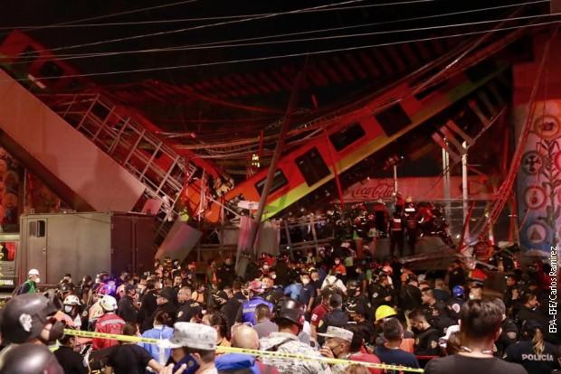Srušio se nadvožnjak metroa u Meksiko Sitiju, poginulo najmanje 15 osoba