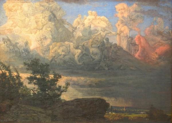 Урош Предић: Визија у облацима (1878)