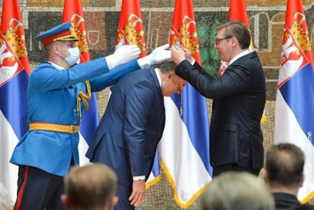 Među odlikovanima je i predsedavajući Predsedništva BiH Milorad Dodik