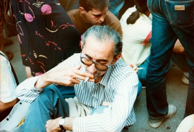 Пекић 1991. на демонстрацијама против Милошевићевог режима 1991.