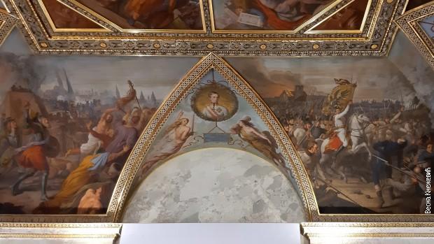 Сала Министарства спољних послова у Бечу – лево на таваници слом турске опсаде Беча, десно протеривање Наполеонових снага из Беча.