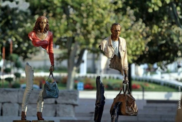 Путници, скулптуре Бруна Кателана