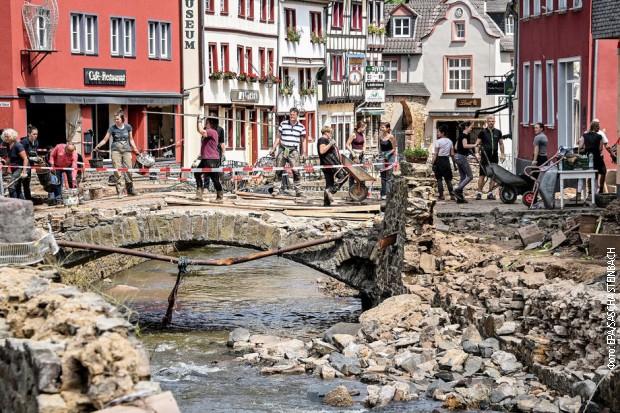 Posledice razornih poplava u Nemačkoj