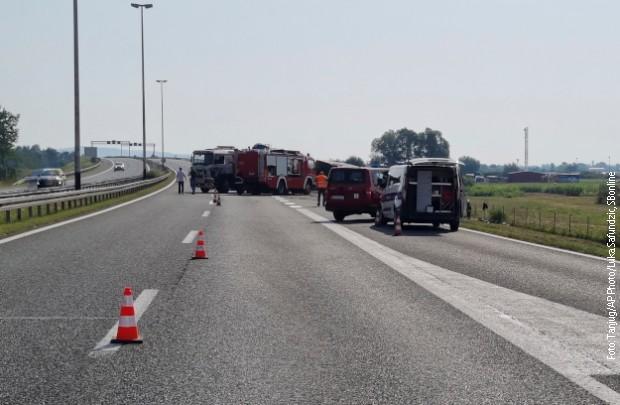 Mesto nesreće kod Slavonskog Broda