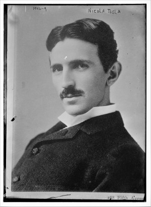 Никола Тесла 1893, фотографија Наполеона Саронија