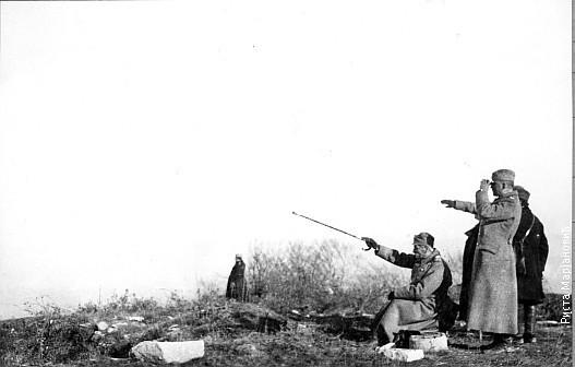 Краљ Петар на бојишту за време Првог светског рата