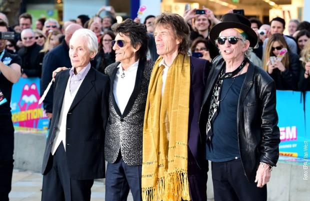 """Rolingstonsi"": Čarli Vots, Roni Vud, Mik Džeger i Kit Ričards 2016. godine u Londonu"