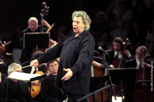 Теодоракис на концерту на Акропољу, 2001. године