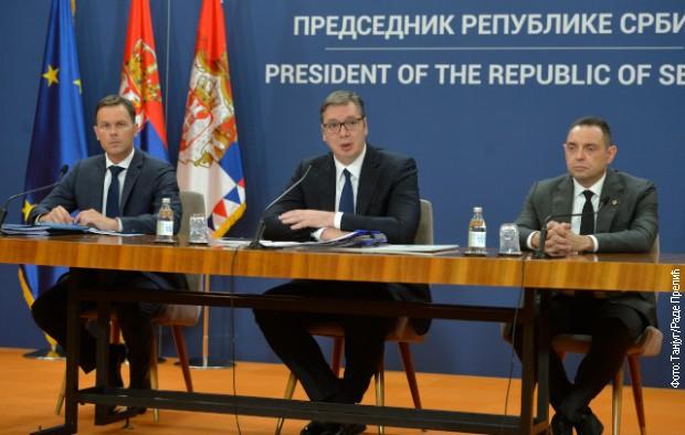Obraćanje javnosti predsednika Vučića