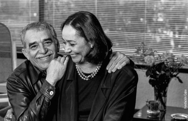 Маркес са супругом Мерцедес
